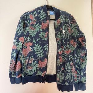 adidas bomber with leaves